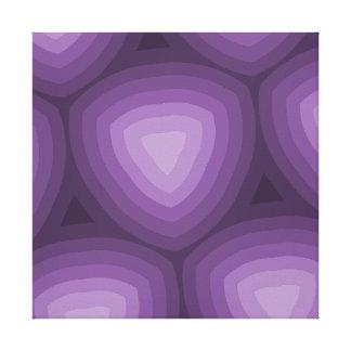 Purple Triangles Geometric Design Canvas Print