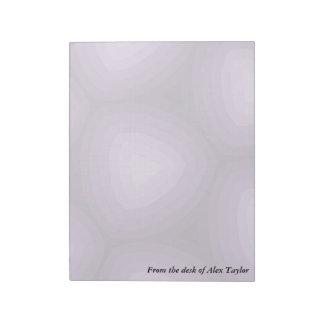 Purple Triangles Geometric Design Notepad