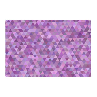 Purple triangles placemat