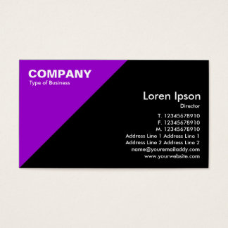 Purple Triangular Corner - Black Business Card