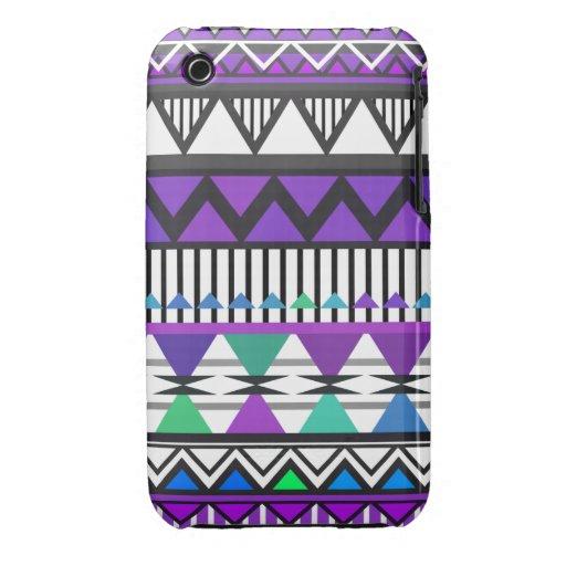 Purple Tribal 2 Pattern iPhone 4/4S Case-Mate Case