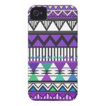 Purple Tribal 2 Pattern iPhone 4 Case