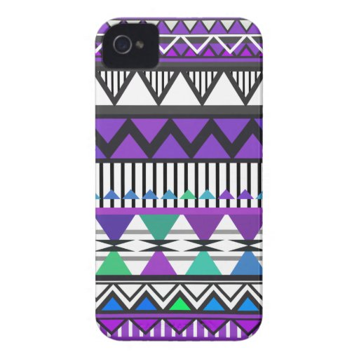 Purple Tribal 2 Pattern iPhone 4 Cover