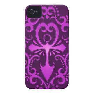Purple Tribal Ankh iPhone 4 Cover