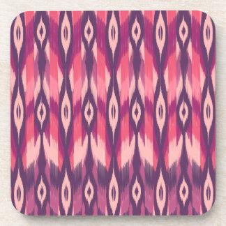 Purple Tribal Ikat Beverage Coaster