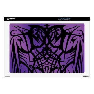 "Purple Tribal Laptop Vinyl Skins 17"" Laptop Skins"