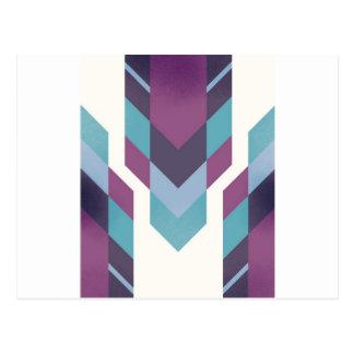 purple tribal postcard
