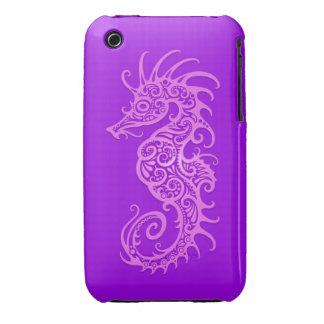 Purple Tribal Seahorse iPhone 3 Cases