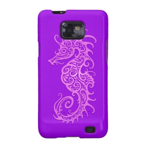 Purple Tribal Seahorse Samsung Galaxy Covers