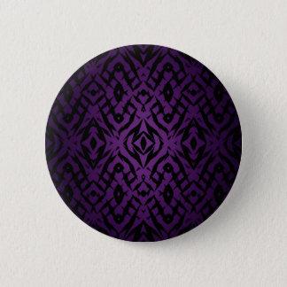Purple tribal shapes pattern pinback button