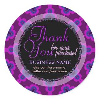 Purple Tribal Star Business Thank You Sticker