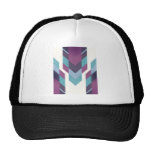 purple tribal trucker hat