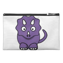 Purple Triceratops Asthma Emergency Kit Travel Accessory Bag