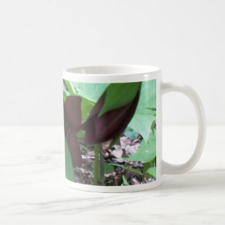 Purple Trillium wildflower and greenery Coffee Mug