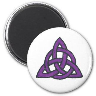 Purple Trinity 2 Inch Round Magnet