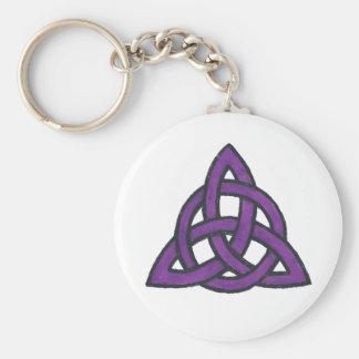Purple Trinity Keychain
