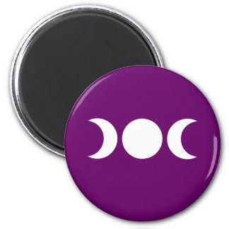 Purple Triple Goddess 2 Inch Round Magnet