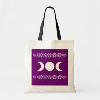 Purple Triple Goddess Budget Tote Bag