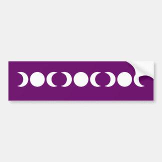 Purple Triple Goddess Bumper Sticker