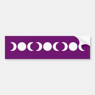 Purple Triple Goddess Car Bumper Sticker