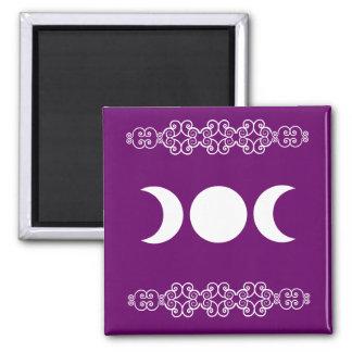 Purple Triple Goddess Magnet