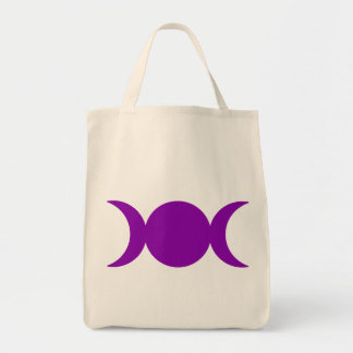 Purple Triple Goddess Tote Bag