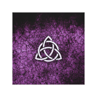 Purple Triquetra Canvas Print