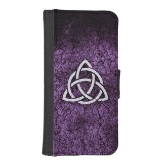 Purple Triquetra iPhone SE/5/5s Wallet Case