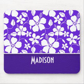 Purple Tropical Flower Mouse Pad