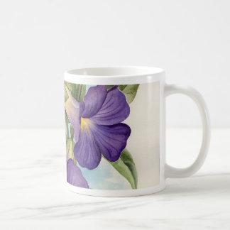 Purple Tropical Flower Painting - Multi Classic White Coffee Mug