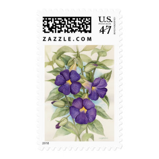 Purple Tropical Flower Painting - Multi Postage
