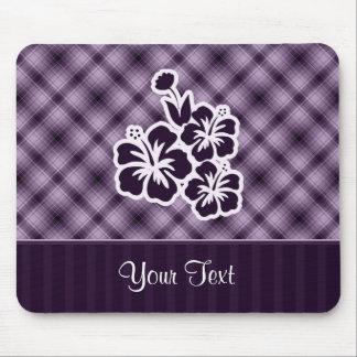 Purple Tropical Flowers Mouse Pad