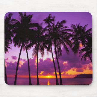Purple Tropical Sunset 2 Mouse Pad