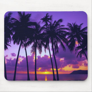 Purple Tropical Sunset 3 Mouse Pad