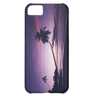 purple tropical sunset iPhone 5C cover
