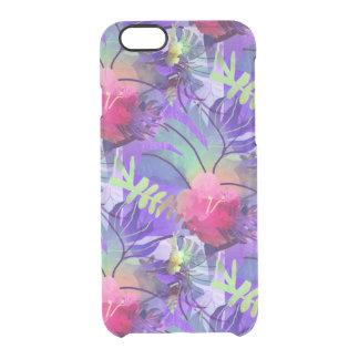 Purple Tropics Clear iPhone 6/6S Case