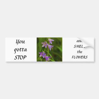 Purple Trumpets wildflowers Bumper Stickers