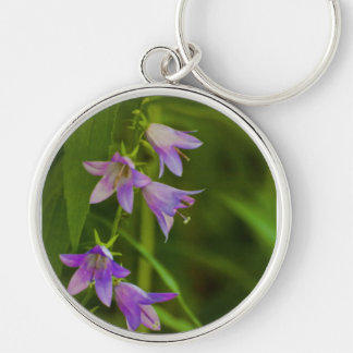 Purple Trumpets wildflowers Keychain