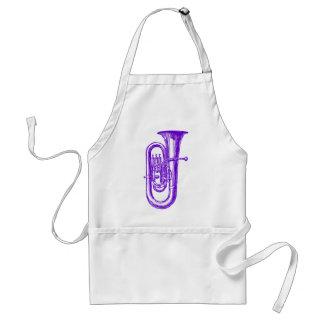 Purple Tuba Adult Apron