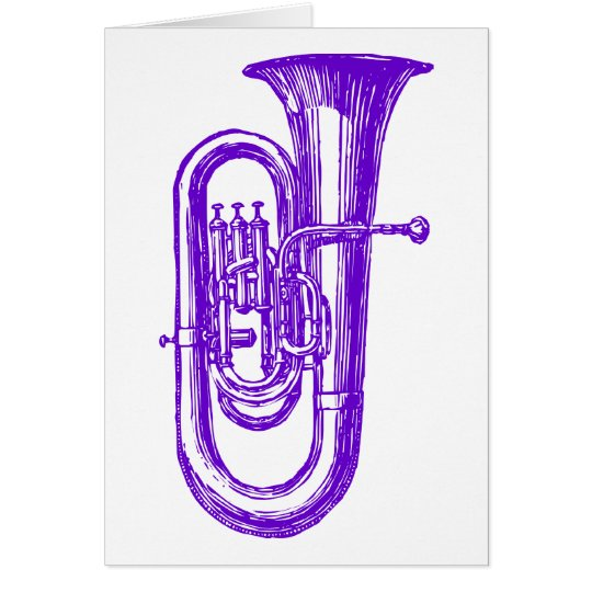 Purple Tuba Card