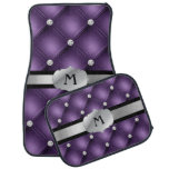 Purple Tufted Personalized Monogram Car Mats