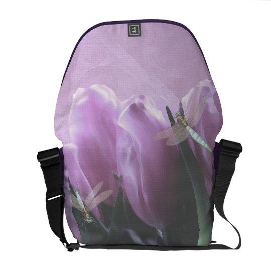 Purple Tulip Aqua Dragonfly Commuter Bags