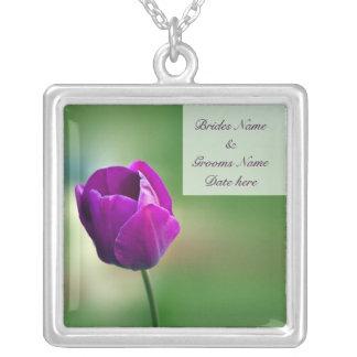 Purple Tulip Custom Necklace