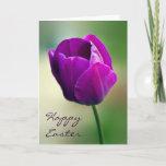 Purple Tulip Easter Card