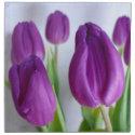 Purple Tulip Easter Napkins napkin