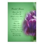 "Purple Tulip Flower Bridal Shower Invitation 5"" X 7"" Invitation Card"