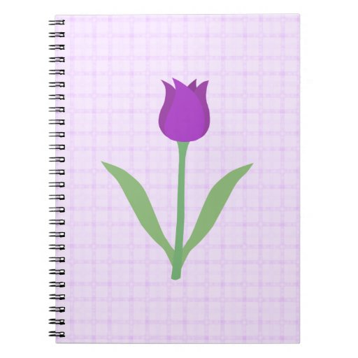 Purple Tulip Flower. Note Books