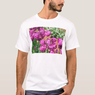 Purple Tulip flowers in bloom 3 T-Shirt