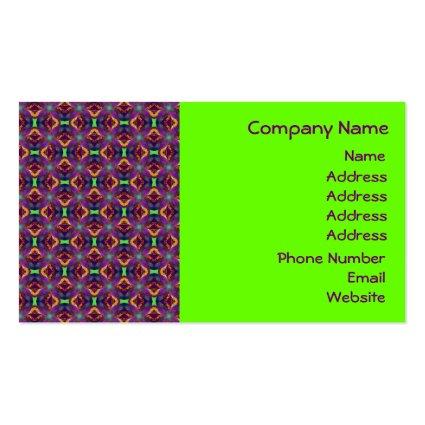 Purple Tulip Fractal Patterned Business Card Templates