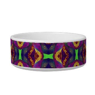 Purple Tulip Fractal Patterned Cat Water Bowl